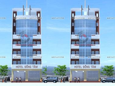Mẫu khách sạn đẹp phong cách hiện đại