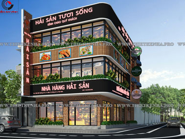 Thiết kế nhà hàng hải sản tại Bình Tân