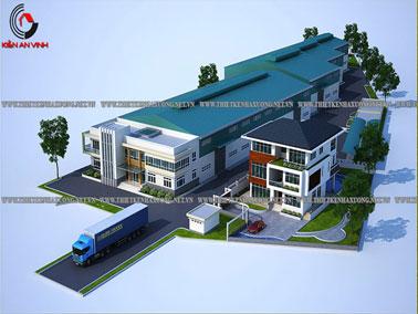 Thiết kế nhà xưởng sản xuất thép Long An
