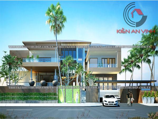 Mẫu thiết kế biệt thự 3 tầng đẹp hiện đại tại An Giang