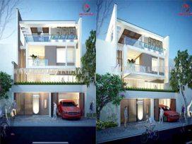 Mẫu thiết kế biệt thự hiện đại 3 tầng đẹp