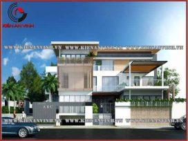 Mẫu nhà thiết kế biệt thự 3 tầng đẹp