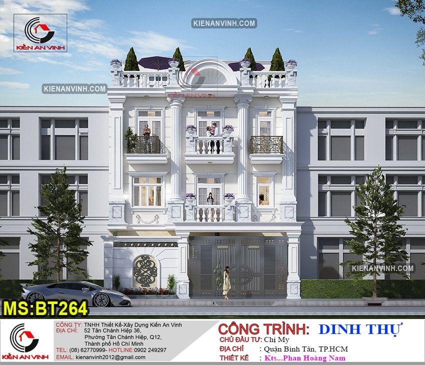 Kiến trúc biệt thự 3 tầng cổ điển BT264