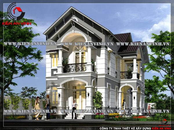Mẫu-thiết-kế-biệt-thự-2-tầng-phong-cách-cổ-điển-1