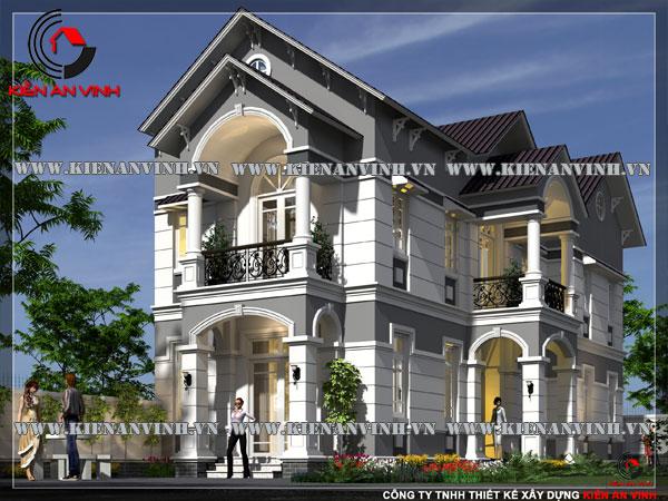Mẫu-thiết-kế-biệt-thự-2-tầng-phong-cách-cổ-điển-2