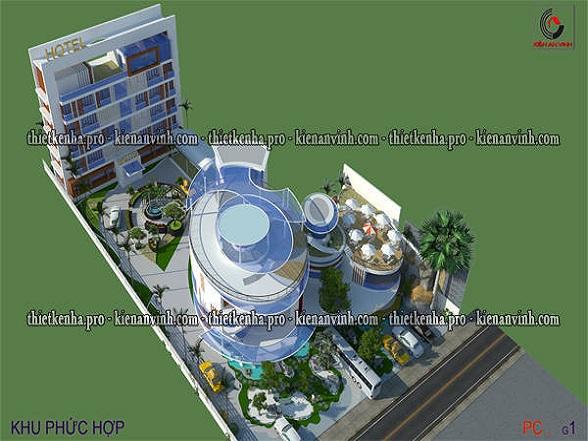 Mẫu thiết kế dự án khu phức hợp đẹp