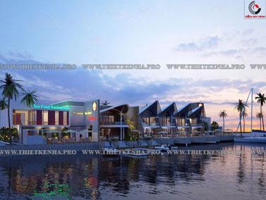 Mẫu thiết kế resort kết hợp nhà hàng