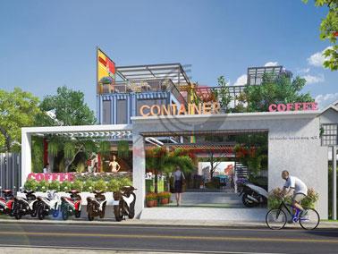 Mẫu thiết kế quán cafe Container đẹp