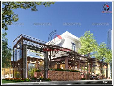 Kiến trúc thiết kế quán cafe đẹp sang trọng