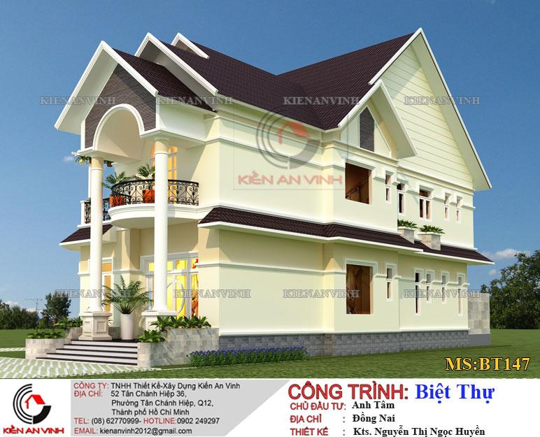 Kiến trúc thiết kế biệt thự 2 tầng Đồng Nai