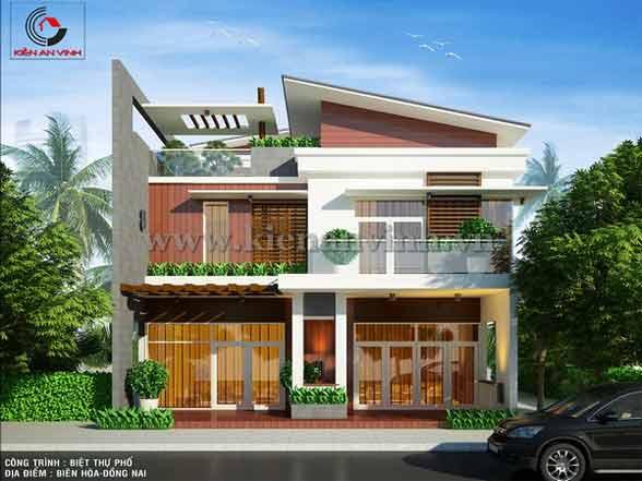 Mẫu biệt thự phố 2 tầng hiện đại tại Đồng Nai