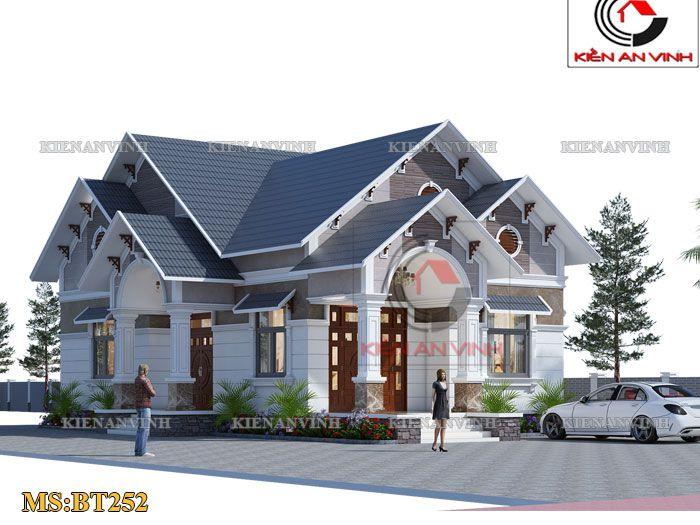 thiết kế biệt thự trệt tại Tiền Giang