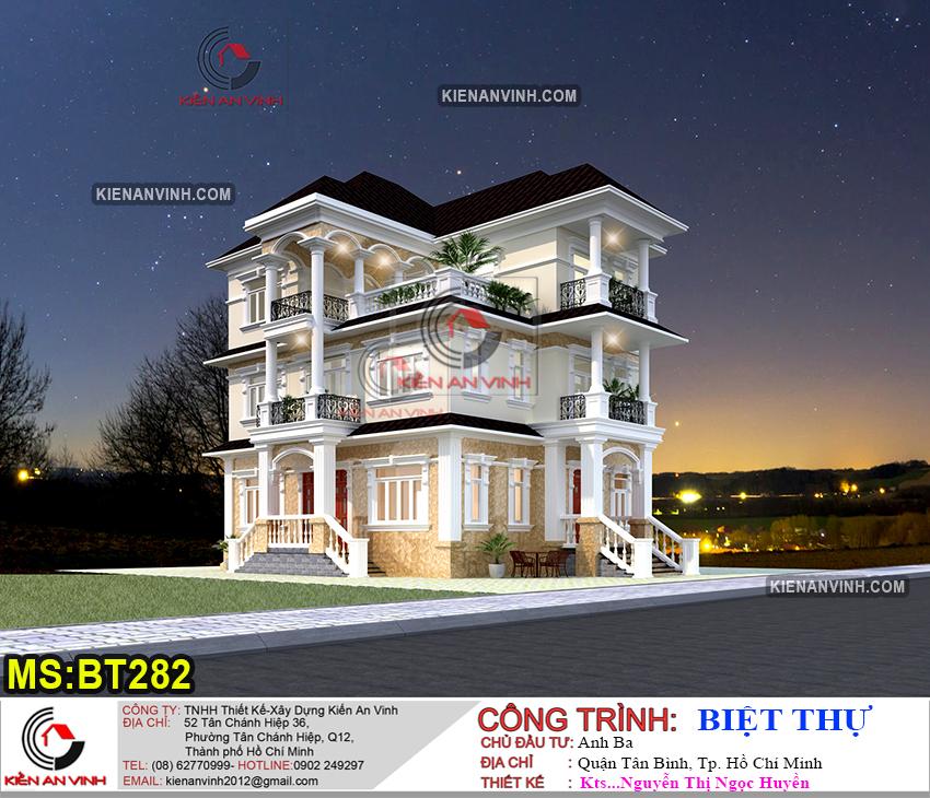 Thiết kế biệt thự 3 tầng BT282 - 1