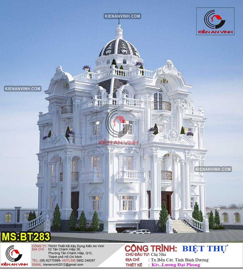Biệt thự lâu đài 3 tầng BT 183 700m2