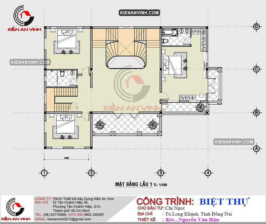 Biệt Thự 3 Tầng Mặt Tiền 8m - 10
