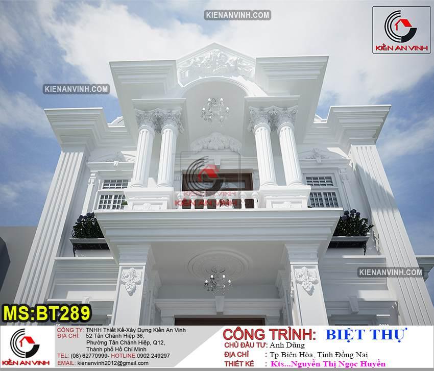 Nhà Biệt Thự 2 Tầng Tân Cổ điển Bt289 - 3