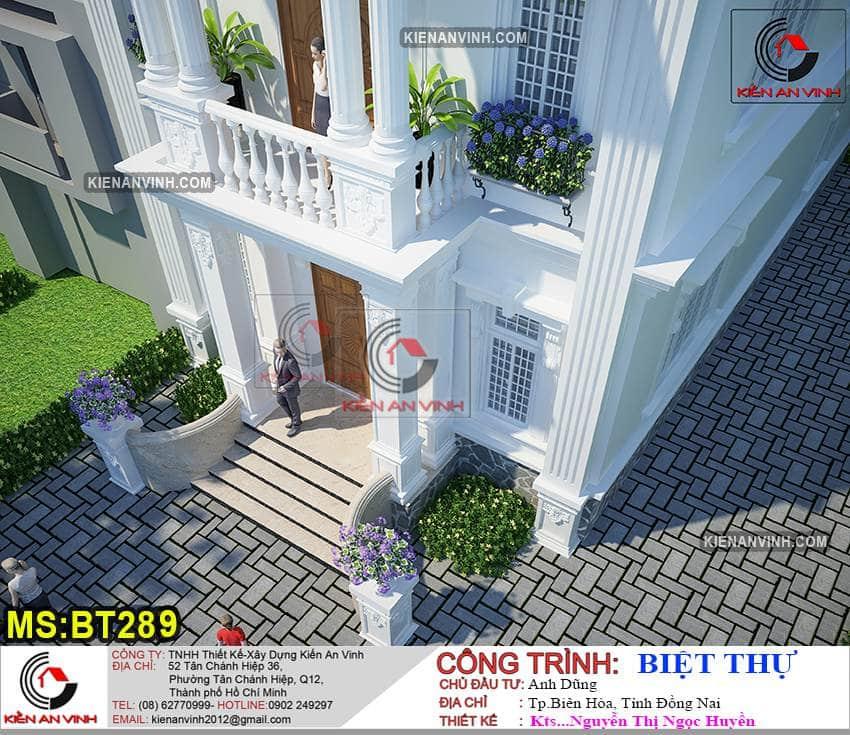 Nhà Biệt Thự 2 Tầng Tân Cổ điển Bt289 - 5