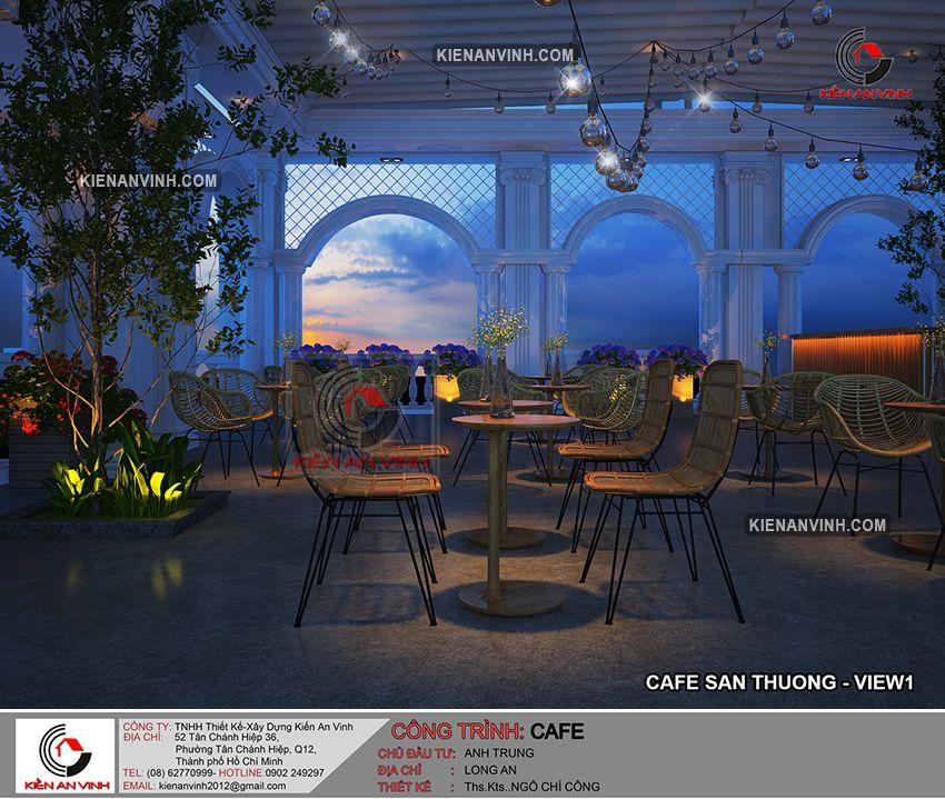 Thiết Kế Quán Cafe Sân Vườn - 17
