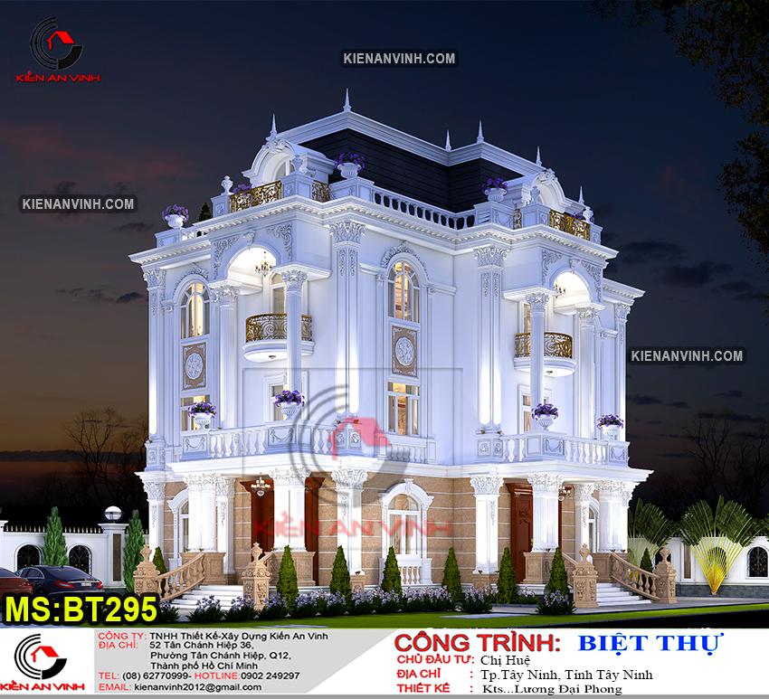 Kiến Trúc Biệt Thự Lâu đài 3 Tầng đẹp - 5