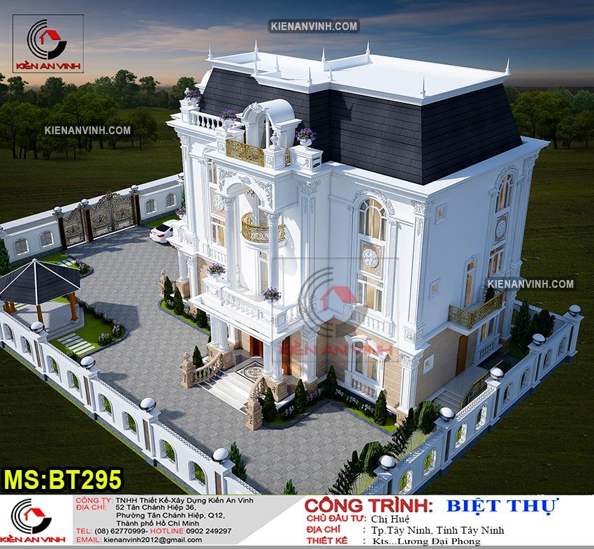 Kiến Trúc Biệt Thự Lâu đài 3 Tầng đẹp - 6