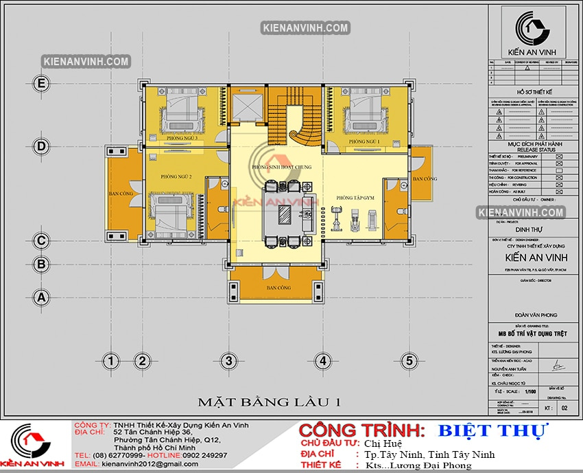 Kiến Trúc Biệt Thự Lâu đài 3 Tầng đẹp - 7