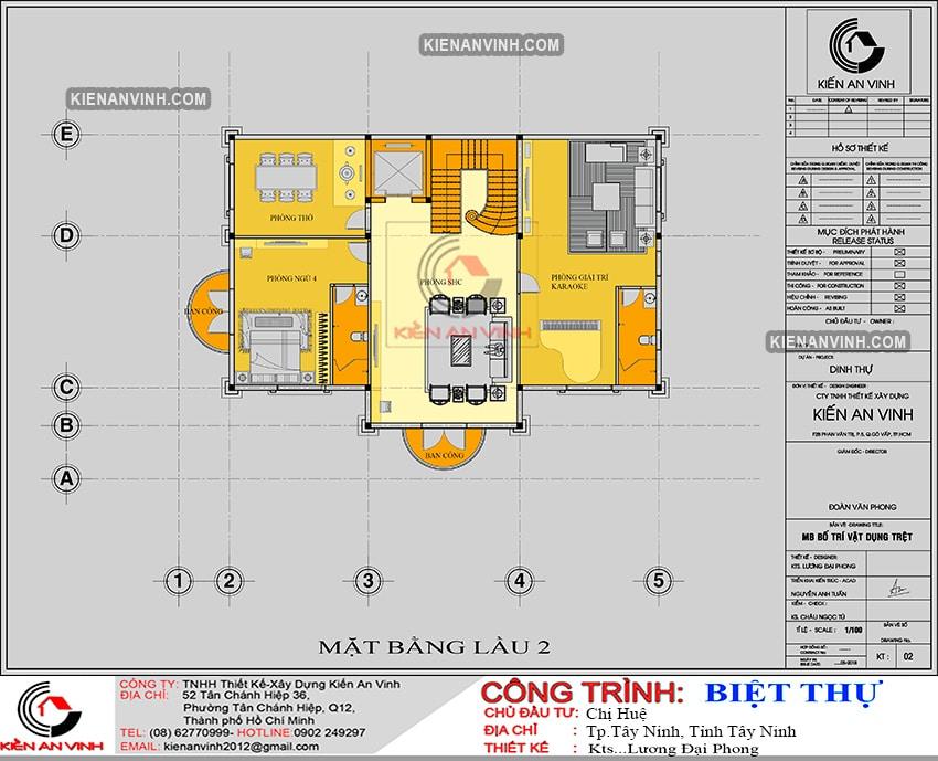 Kiến Trúc Biệt Thự Lâu đài 3 Tầng đẹp - 8