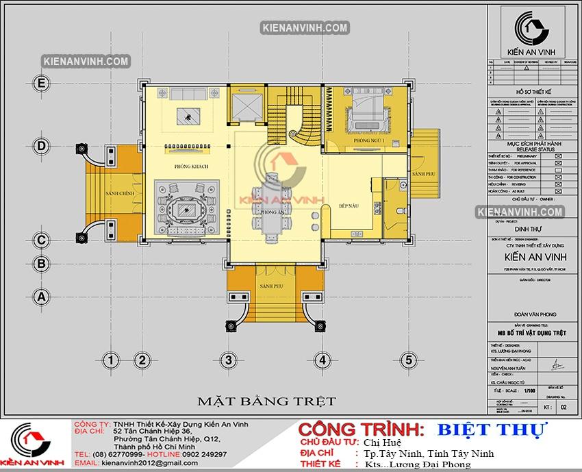 Kiến Trúc Biệt Thự Lâu đài 3 Tầng đẹp - 9