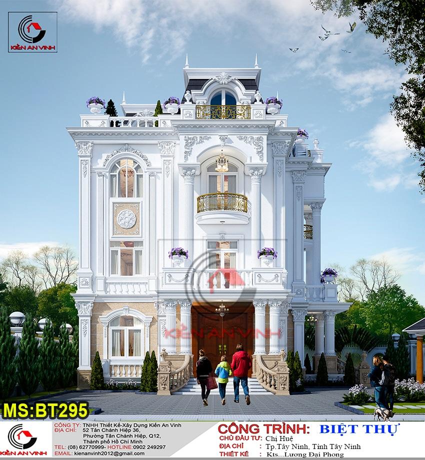 Kiến Trúc Biệt Thự Lâu đài 3 Tầng đẹp Nhat - 1