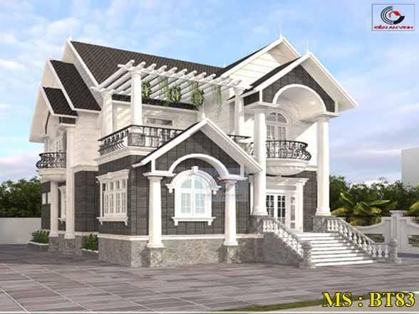 Thiết Kế Biệt Thự Mini đẹp 2 Tầng Bán Cổ điển - Avatar