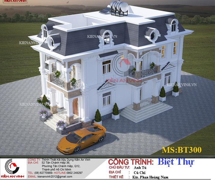 Mẫu Biệt Thự 2 Tầng 300m2 - 4