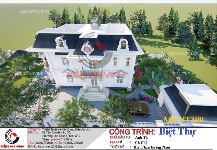 Mẫu Biệt Thự 2 Tầng 300m2 - 6