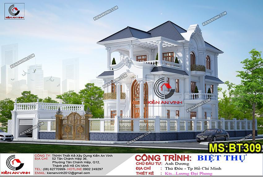 ảnh Thiết Kế Biệt Thự Tân Cổ điển 2 Tầng 2 Mặt Tiền Bt309 - 10
