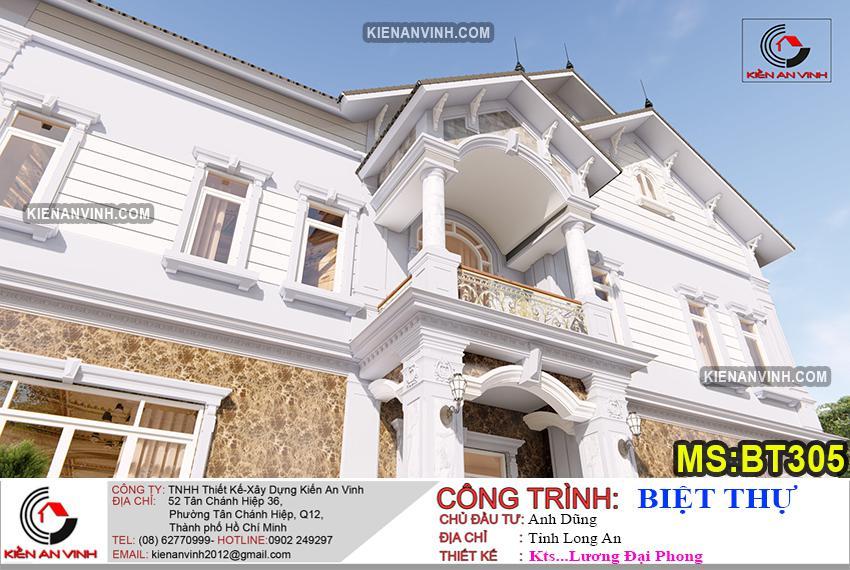 Bản Thiết Kế Biệt Thự 2 Tầng Mái Thái - 11