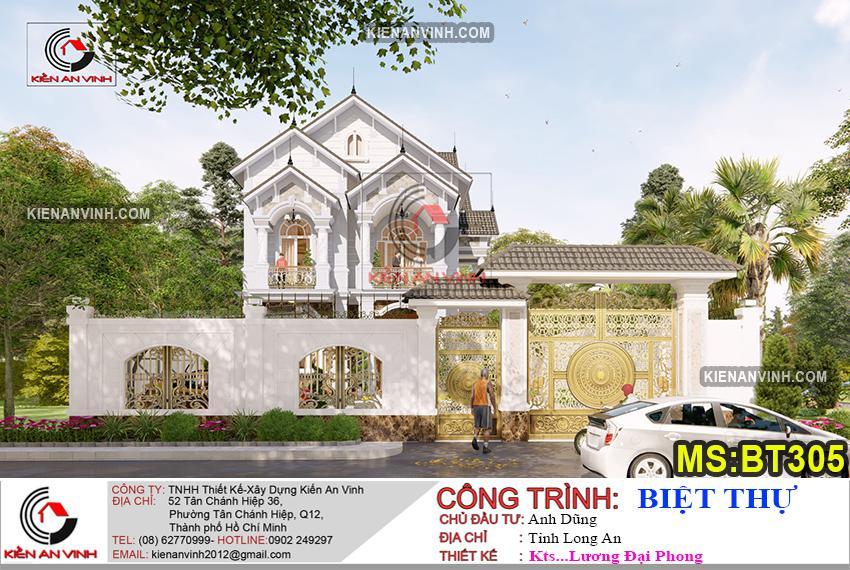 Bản Thiết Kế Biệt Thự 2 Tầng Mái Thái - 7