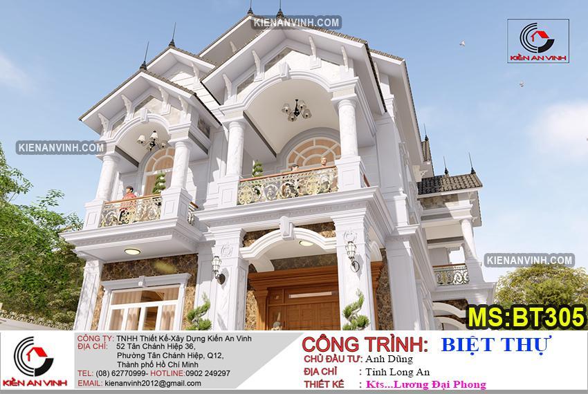 Bản Thiết Kế Biệt Thự 2 Tầng Mái Thái - 9