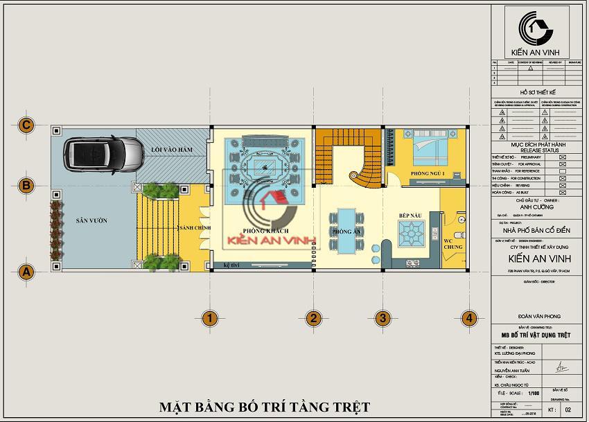 Biệt Thự 3 Tầng 8x15m Cổ điển - 11