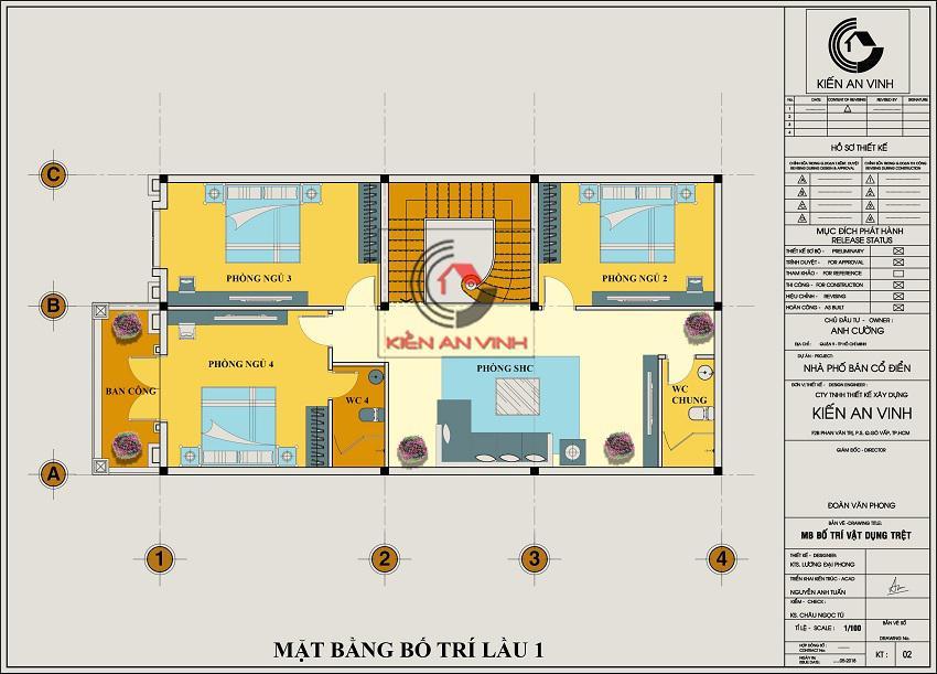 Biệt Thự 3 Tầng 8x15m Cổ điển - 12