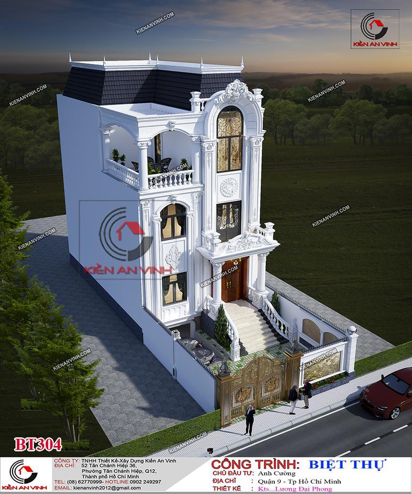 Biệt Thự 3 Tầng 8x15m Cổ điển - 9