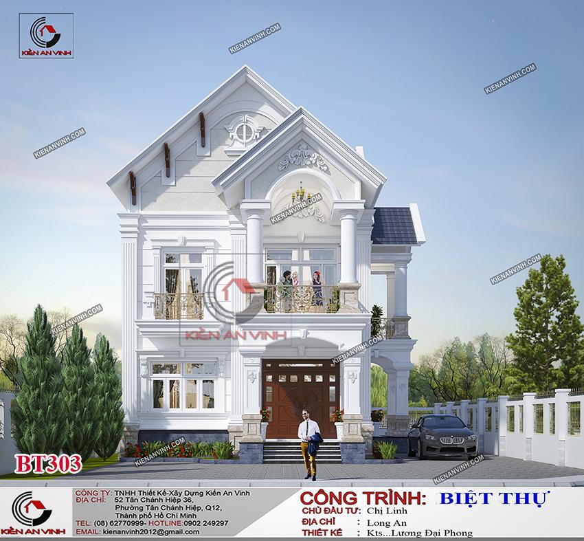 Biệt Thự Mái Thái Long An - Kiến Trúc 2 Tầng Cổ điển - 1