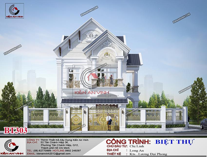 Biệt Thự Mái Thái Long An - Kiến Trúc 2 Tầng Cổ điển - 3
