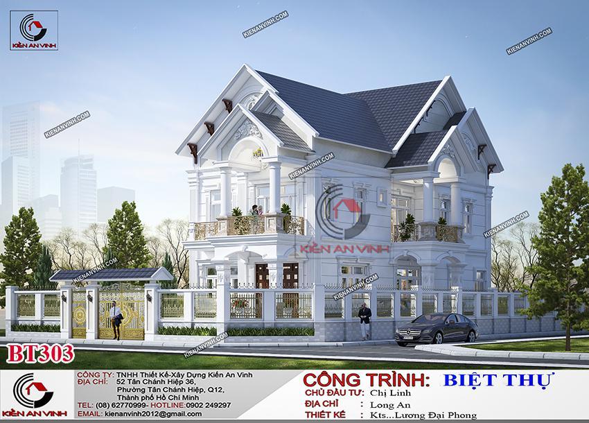 Biệt Thự Mái Thái Long An - Kiến Trúc 2 Tầng Cổ điển - 4