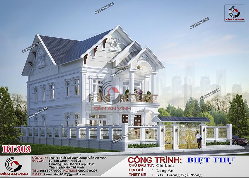 Biệt Thự Mái Thái Long An - Kiến Trúc 2 Tầng Cổ điển - 5