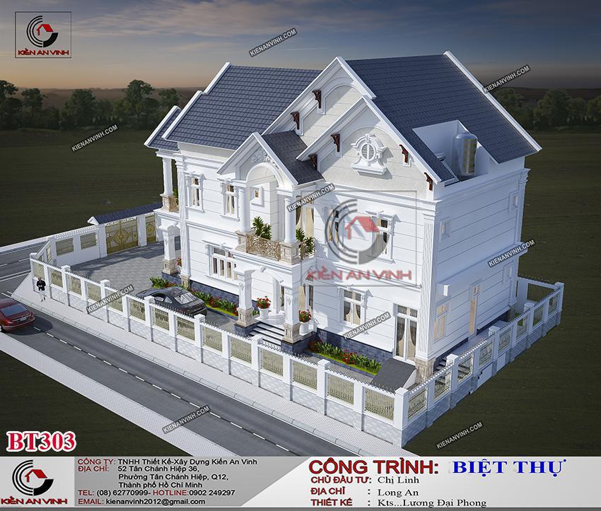 Biệt Thự Mái Thái Long An - Kiến Trúc 2 Tầng Cổ điển - 6