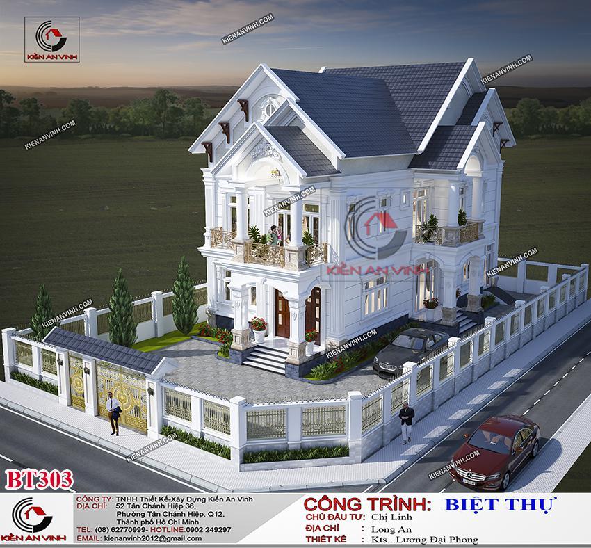 Biệt Thự Mái Thái Long An - Kiến Trúc 2 Tầng Cổ điển - 7