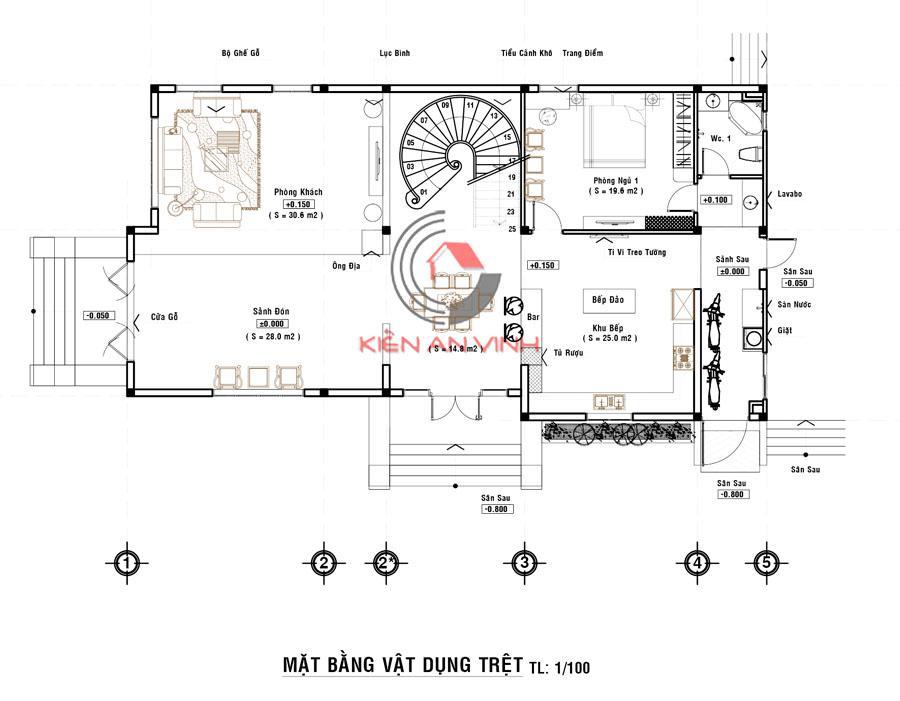 Biệt Thự Mái Thái Long An - Kiến Trúc 2 Tầng Cổ điển - 9