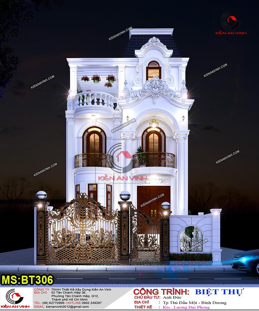 Biệt Thự Mặt Tiền 10m Phong Cách Cổ điển - 7