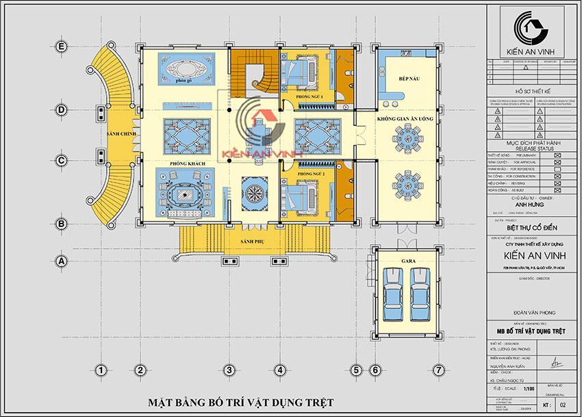 Thiết Kế Dinh Thự 17x14m Công Trình Kiến Trúc đẹp - 11