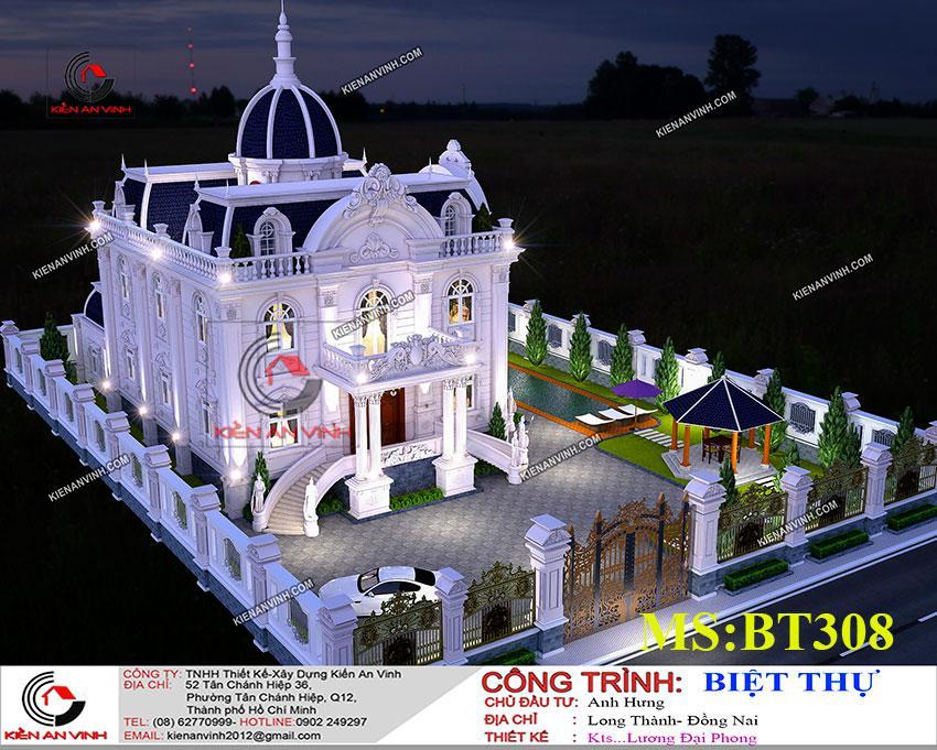 Thiết Kế Dinh Thự 17x14m Công Trình Kiến Trúc đẹp - 5