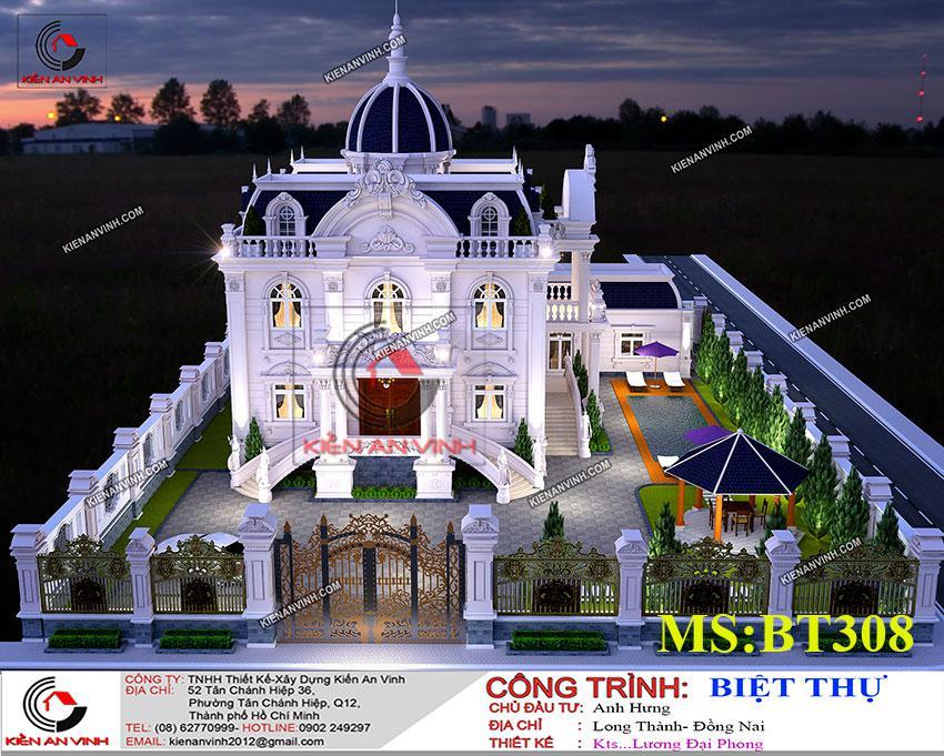Thiết Kế Dinh Thự 17x14m Công Trình Kiến Trúc đẹp - 7