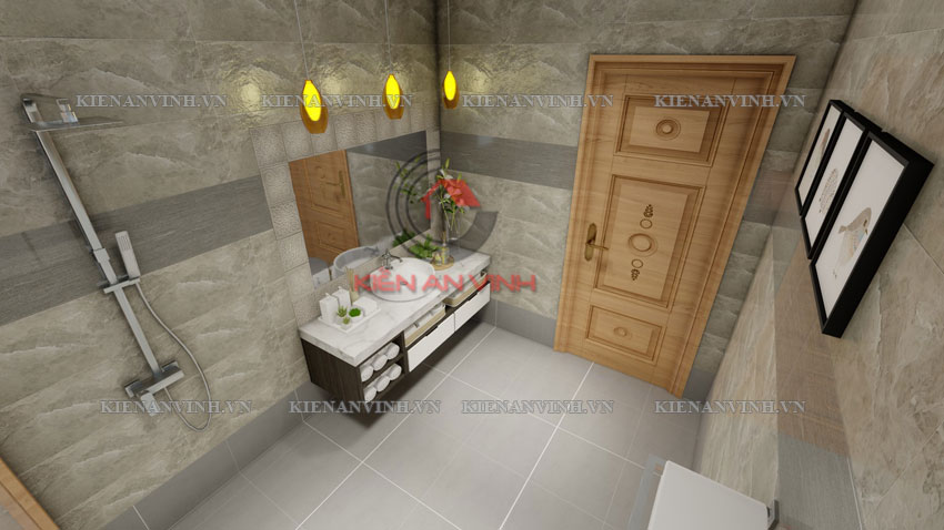 Thiết Kế Biệt Thự Tân Cổ điển 2 Tầng 2 Mặt Tiền Bt309 - 32